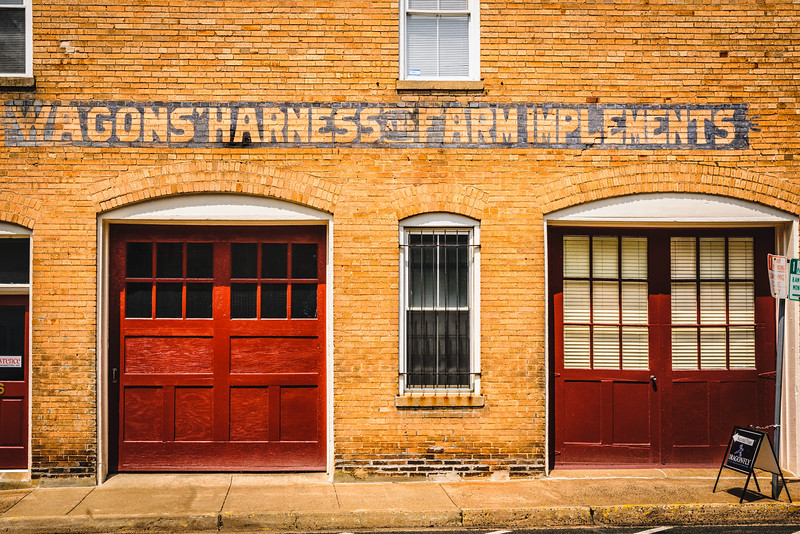 Wagons' Harness and Farm Implements Ghost Sign, 24 Ashby Street, Warrenton, Virginia