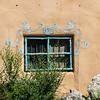 Flower Mural over wWndow, Ranchos de Taos, New Mexico