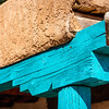 Turquoise  Architectural Details, San Ildefonso Pueblo, New Mexico