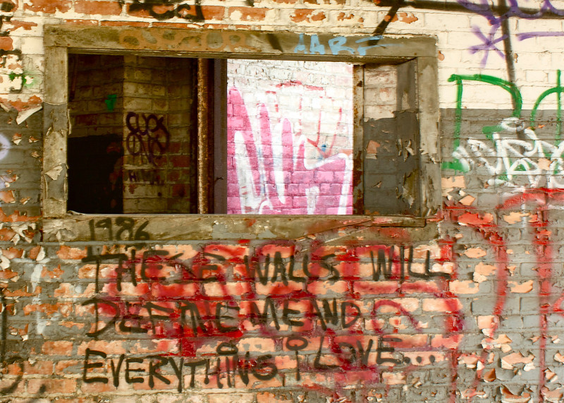 These walls will define me and everything I love...