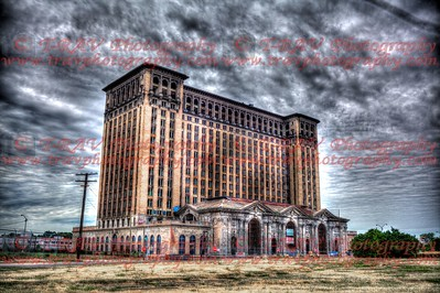 Windowless Train Depot Building in Detroit
