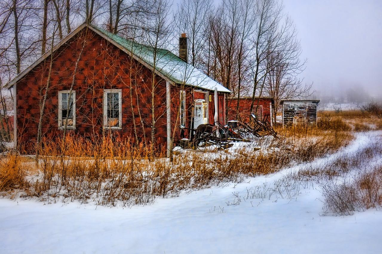 Timberline Garage In Winter