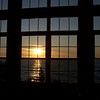 One more sunrise view from windows at Munising, Michigan's Americinn.
