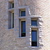 Cream City brick tower windows of the Old Mackinac Point Lighthouse