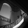 City Hall Staircase View #2a BW - Pasadena, CA, USA
