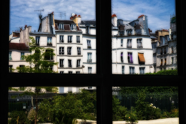 Paris Scenic through Distorted Window #1, Paris, France