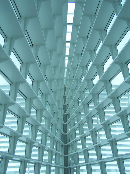 Quadracci Pavilion's Windhover Hall at Milwaukee Art Museum.