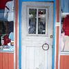 Shop door at Fisherman's Wharf in Monterey, California