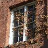 Rustic window on brick building in Woodland, California