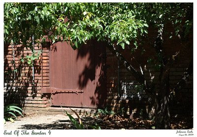 End of the Garden 4  Photos from Filoli:  My favorite door in the garden - the one I'm not allowed to go through :)  Filoli Gardens, 26 August 2009.