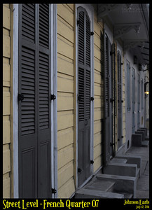 Street Level: French Quarter 07  Photos taken around the French Quarter of New Orleans.  New Orleans, 12 July 2011
