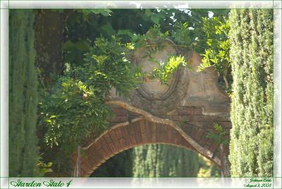 Garden Gate 4  The top of one of Filoli's garden gates.  Filoli Gardens, 3 August 2008.