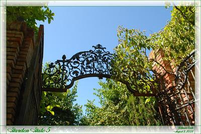 Garden Gate 5  The top of one of Filoli's garden gates.  Filoli Gardens, 3 August 2008.