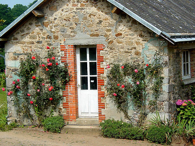 Cottage at Chateau La Flocelliere, France.