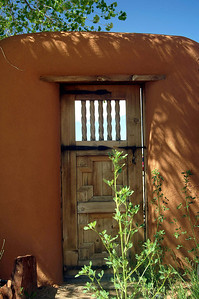 Door in Santa Fe, New Mexico.