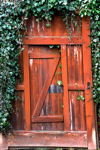Wooden door in Germany.