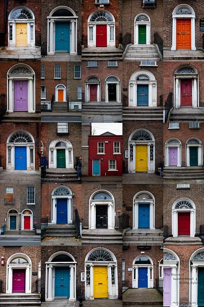 Doors of Leeson Street, Dublin