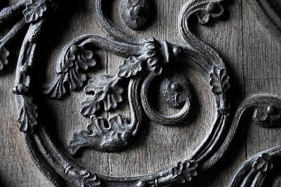 Detail of Notre Dame Door, Paris France