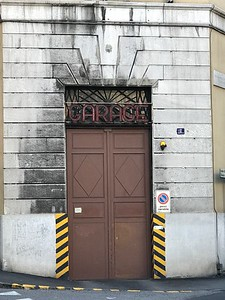 Garage - Car Parking entry doorway in Trieste, Italy