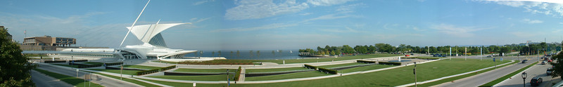 Panorama of Milwaukee Art Museum