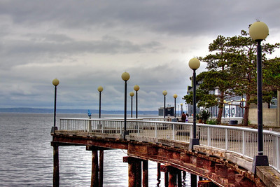 The pier by the Seattle Aquarium