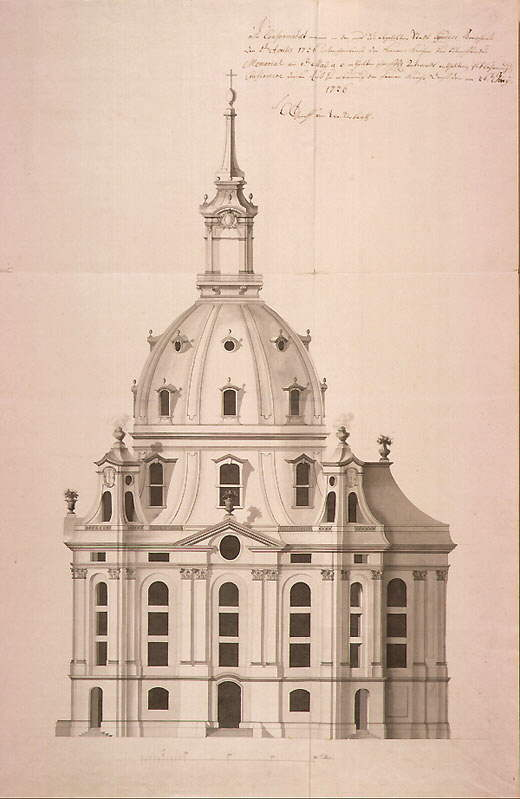 Frauenkirche drawing 1726