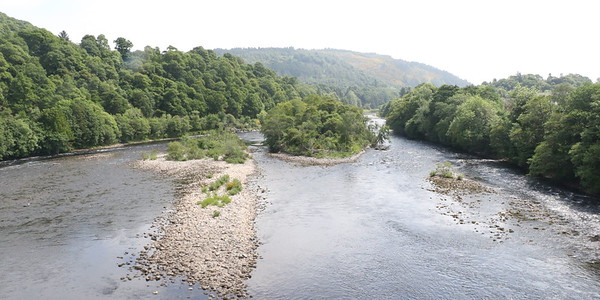 River Tay from Dunkeld Bridge looking east (downstream)