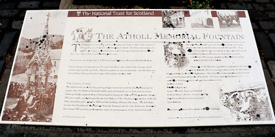 Atholl Memorial Fountain Information Board