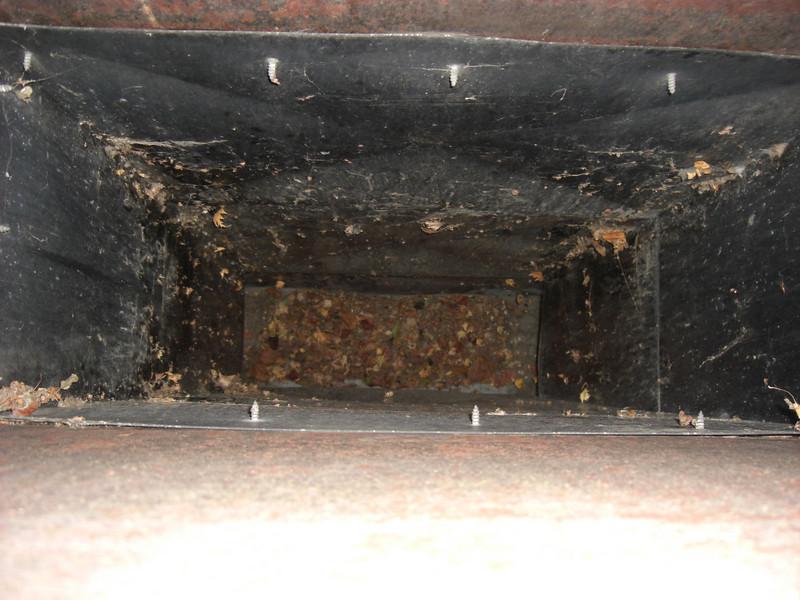 chimney interior (living room fireplace)