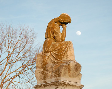 This is a statue located in the United Methodist Church Cemetery in El Dorado, Dorchester County, Maryland.  The church was demolished in 2015.