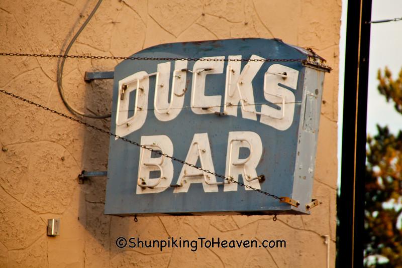 Antique Neon Sign for Ducks Bar, Crandon, Wisconsin