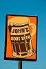 Root Beer Sign at John's Drive-In, Waukesha, Wisconsin