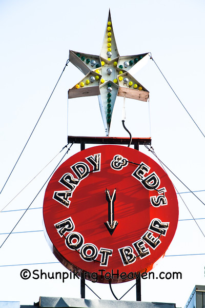 Vintage Sign for Ardy & Ed's Drive-In, Oshkosh, Wisconsin