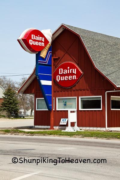 "Unique Dairy Queen ""Barn"", Milford, Illinois"