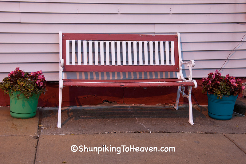 Bench at Wedl's Hamburger Stand, Jefferson, Wisconsin