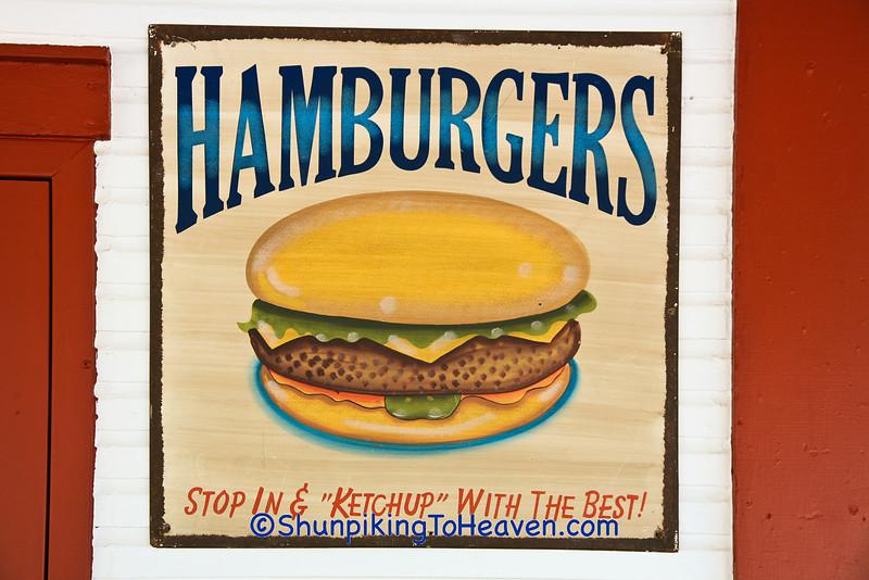 Hamburger Advertising Sign, Grand Traverse County, Michigan