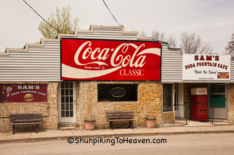 Sam's Soda Fountain Cafe, Markleville, Indiana