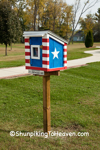 Patriotic Little Free Library, Muscoda, Grant County, Wisconsin