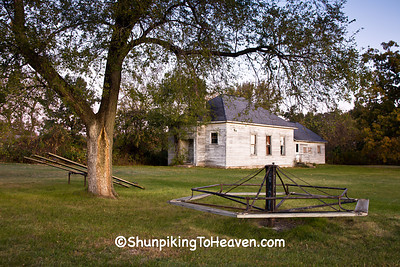 Playground at Orange Mill School, District 1, Juneau County, Wisconsin