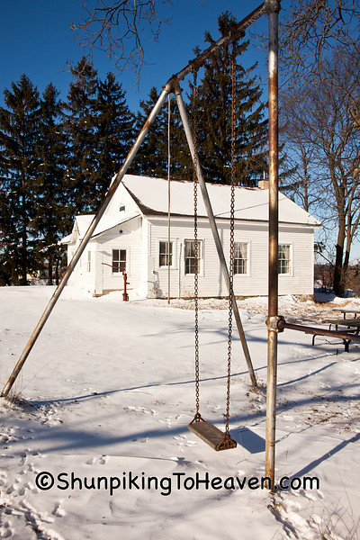 Swing Set at Friendship School, Sauk County, Wisconsin