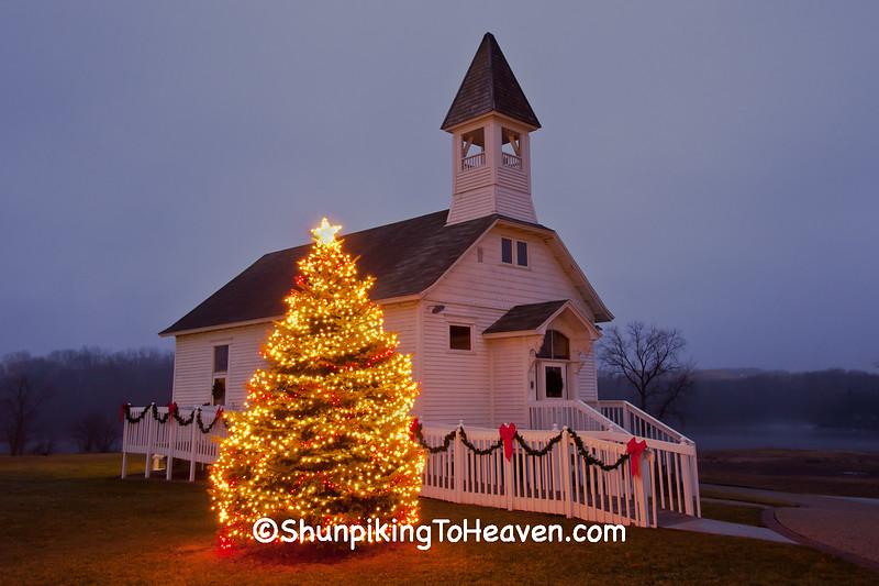 Christmas at Fair Valley School, Sauk County, Wisconsin