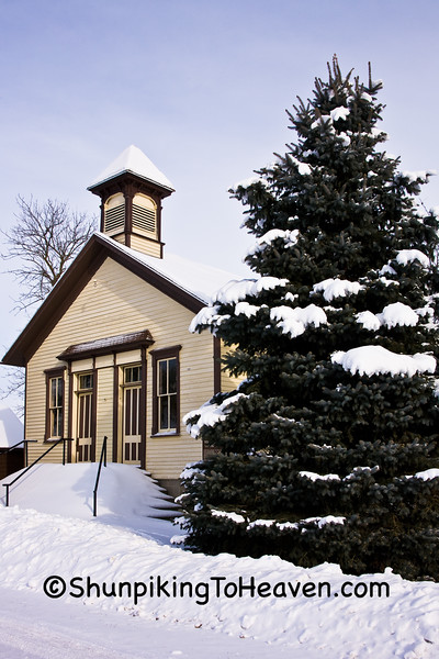 The Cooksville Schoolhouse, Rock County, Wisconsin