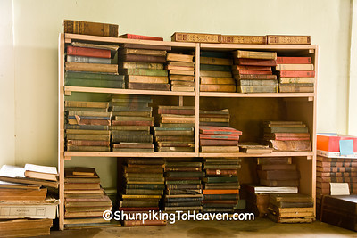 Old Books at Red Brick School, Washington County, Iowa