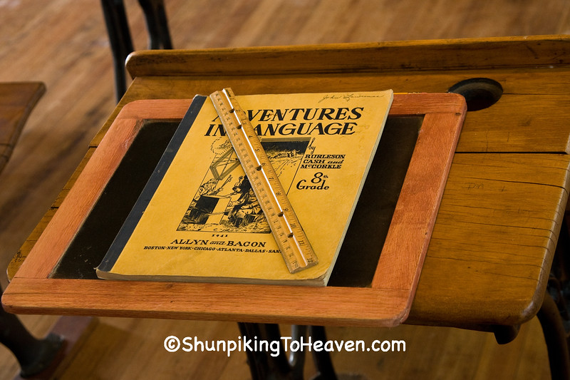 Vintage Language Book and Slate, Jackson County, Iowa