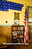 School Books, Penmanship Poster, and American Flag, Jackson County, Iowa