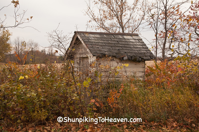 Outhouse at Rognstad School, Vernon County, Wisconsin