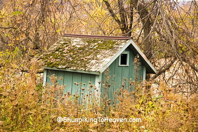 Outhouse at Abandoned One-Room School, Houston County, Minnesota
