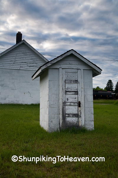 Outhouse at Springbrook School, Washburn County, Wisconsin