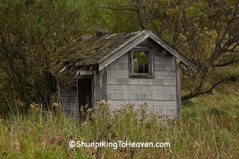 Outhouse at Holen School, Jackson County, Wisconsin