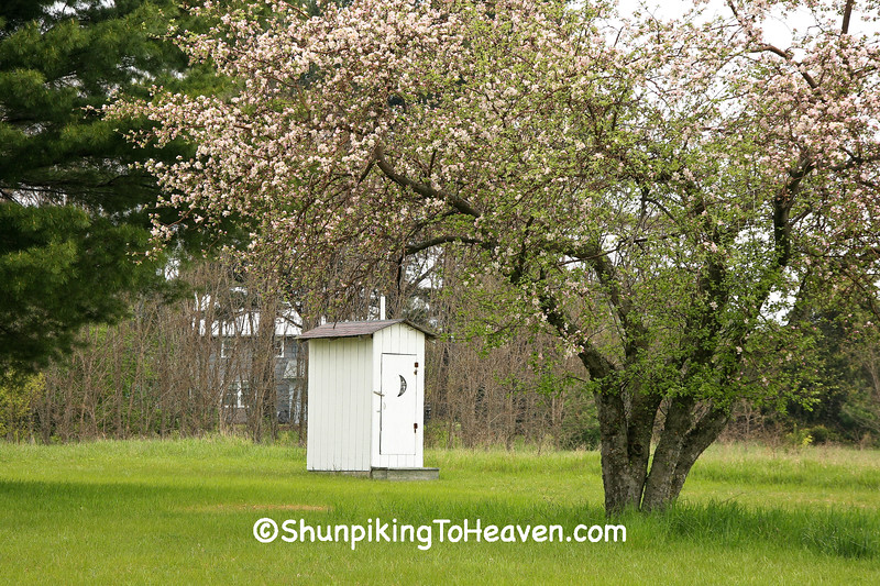 Outhouse at Port Oneida School, Leelanau County, Michigan
